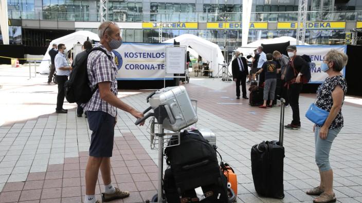 Corona-Teststation Flughafen