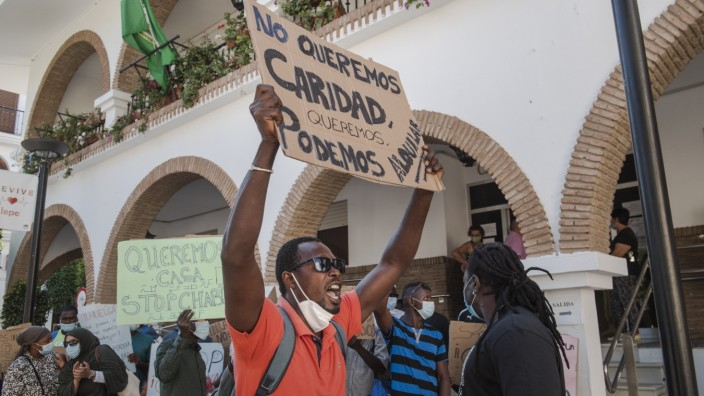 Spain's Migrant Workers Demand Basic Rights In Protest Camp