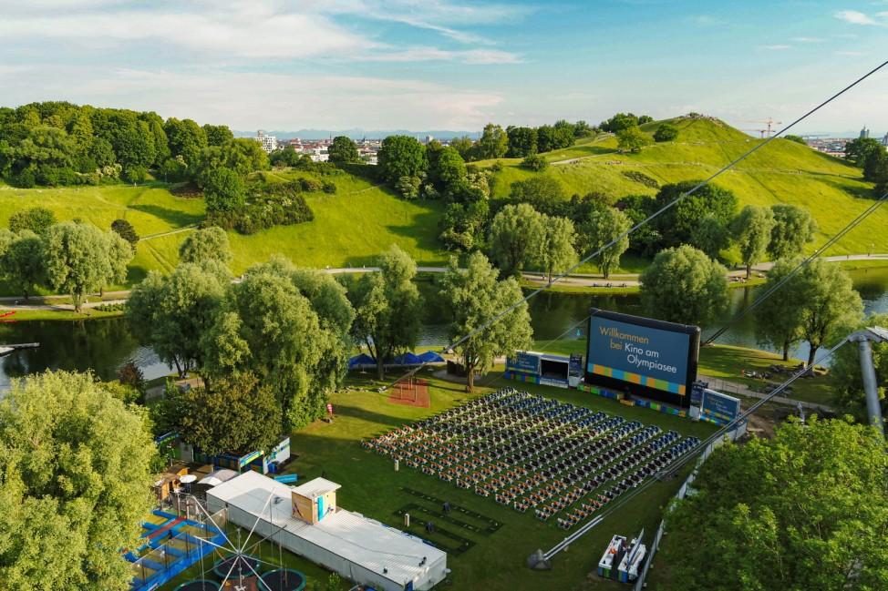 Foto Frischluft im Park, Kino am Olympiasee, München