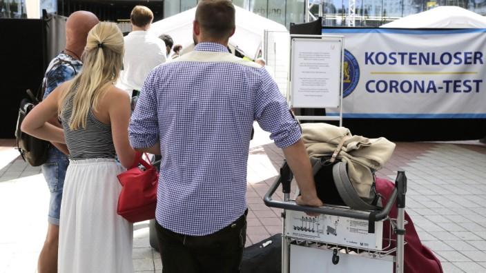 Corona-Test am Flughafen München