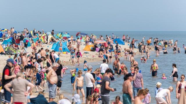 Sommerwetter an der Nordseeküste