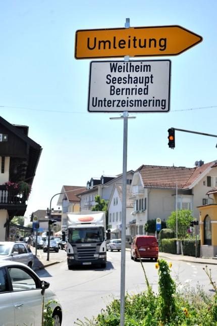 Tutzing: Hauptstrasse Baustelle Umfahrung