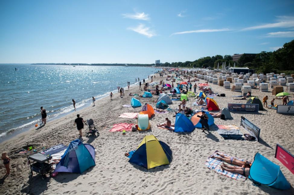 Sonniges Wetter an der Ostsee