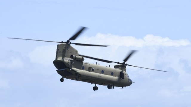 Chinook Helicopters Deploy To Assist In Firefighting Operations As Bushfires Continue To Burn Across Australia