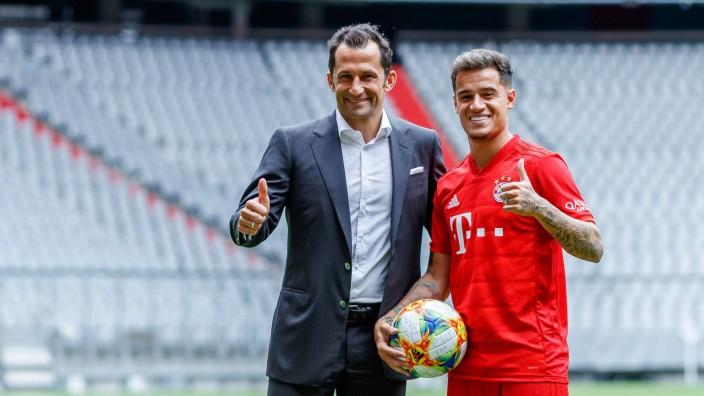 Muenchen Deutschland 19 08 2019 Vorstellung von Philippe Coutinho in der Allianz Arena Sportdire