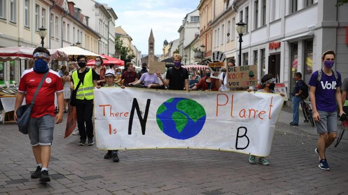 Demonstration Fridays for Future zur städtischen Verkehrspolitik