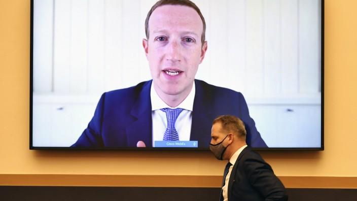 Social Media: Facebook CEO Mark Zuckerberg vor dem Untersuchungsausschuss des US-Kongresses.