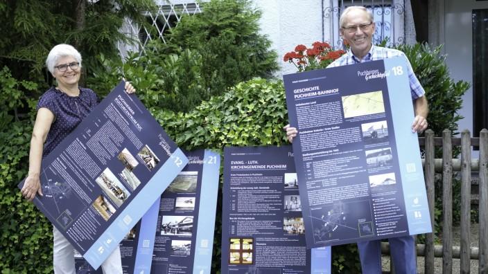 PUCHHEIM: Die neuen Infotafeln für den Puchheimer Geschichtspfad