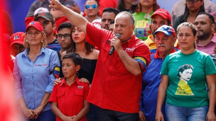 CARACAS VENEZUELA MARCH 16 2019 Venezuela s National Assembly President Diosdado Cabello C du