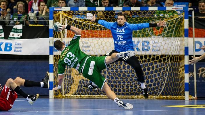 29.09.2019, Handball, 1.Bundesliga, 7.Spieltag, Füchse Berlin - Die Eulen Ludwigshafen, Max-Schmeling-Halle. Berlins Mi; Handball - Torwart Stefan Hanemann