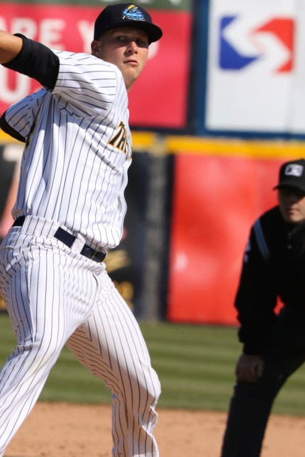 April 10 2016 Trenton New Jersey U S EVAN RUTCKYJ was one of the pitchers for the Trenton Thu