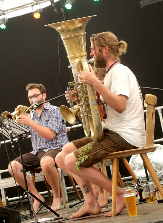 """Kapelle So & So"" beim Brass Wiesn Festival in Eching, 2018"