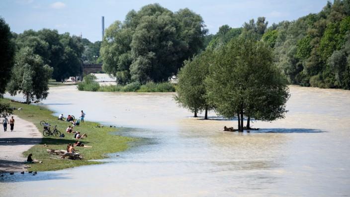 Isar in München, Hochwasser