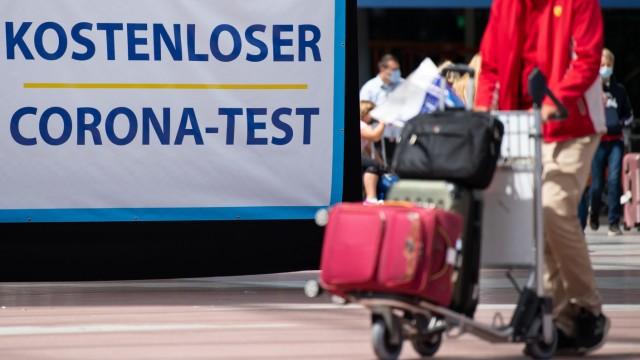 Kostenloser Corona-Test am Flughafen München