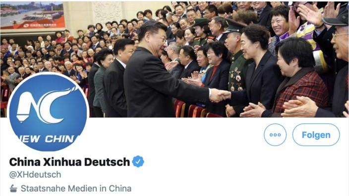 Twitter-Account von Xinhua