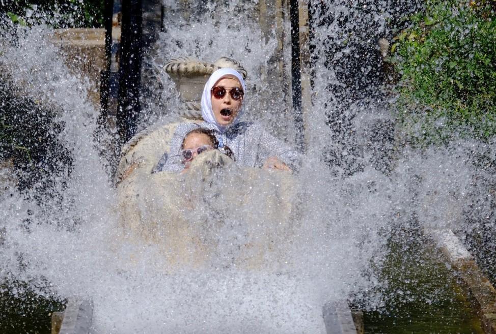 Wasserrutsche im Freizeitpark Tripsdrill