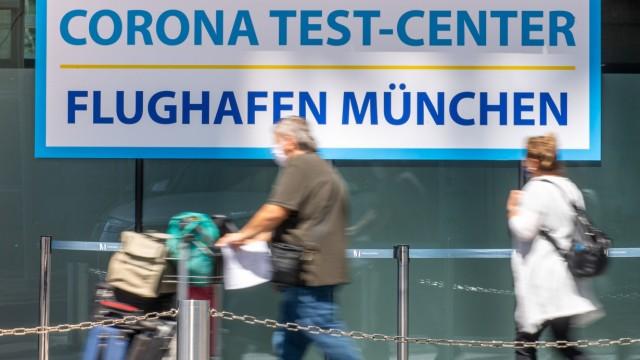 Huml Corona-Testzentrum Flughafen München