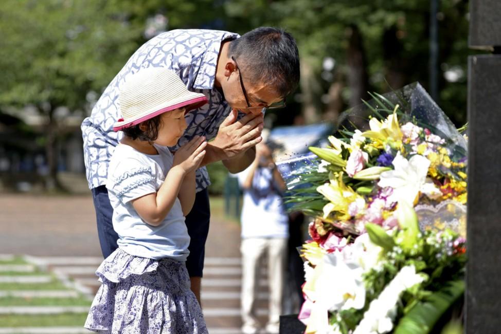 75. Jahrestag des Atombombenabwurfs über Nagasaki