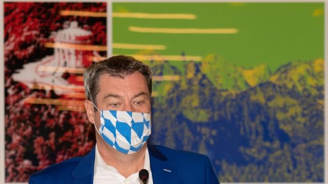 Videokonferenz des Kabinetts in Bayern