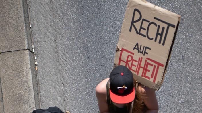 Corona-Demonstration in Stuttgart