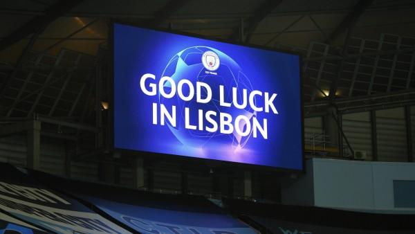 Manchester City v Real Madrid - UEFA Champions League - Round of 16 - Second Leg - Etihad Stadium General view of the st; Lissabon, Champions League, Manchester City