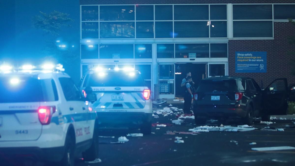 Chicago erlebt Nacht der Gewalt und Plünderungen