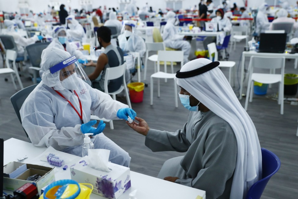 *** BESTPIX *** Covid-19 Testing Centers Near Dubai-Abu Dhabi Border