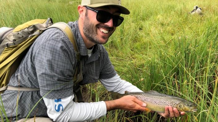Fischen am Nambino-See