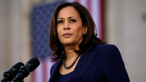 FILE PHOTO: U.S. Senator Harris launches her campaign for U.S. president at a rally in Oakland