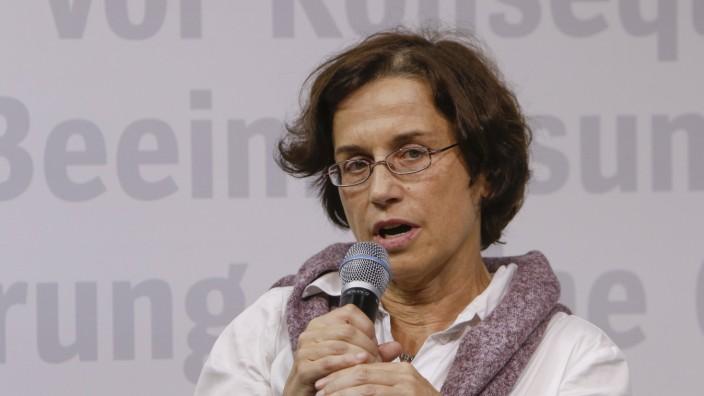 Germany: Frankfurt Book Fair 2019 Day 1 German sociologist Cornelia Koppetsch speaks at the Frankfurt Book Fair. The 71