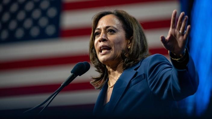 September 7, 2019, SNHU arena, Manchester, New Hampshire, USA: Democratic Presidential candidate Senator Kamala Harris