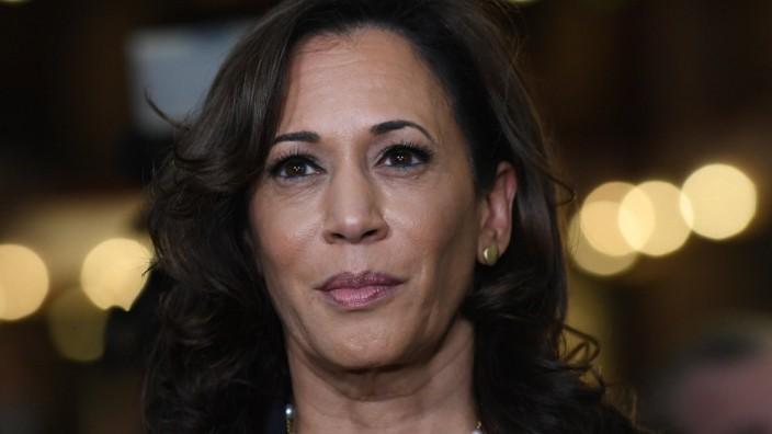 ***FILE PHOTO*** Joe Biden Picks Senator Kamala Harris As Running Mate. MIAMI, FL - JUNE 27: Senator Kamala Harris in t