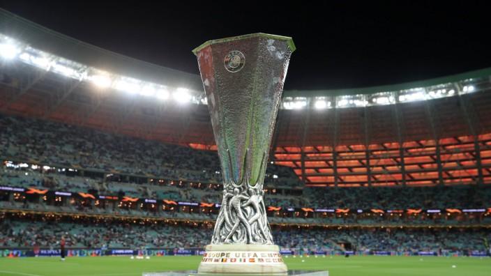 Europa League File Photo File photo dated 29-05-2019 of A view of the Europa League trophy. FILE PHOTO Editorial use onl; Europa League