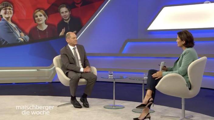 SPD-Kanzlerkandidat Olaf Scholz bei Maischberger