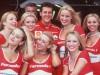 Ferrari driver, Michael Schumacher of Germany enjoying the perks of his job with the Formula One gir