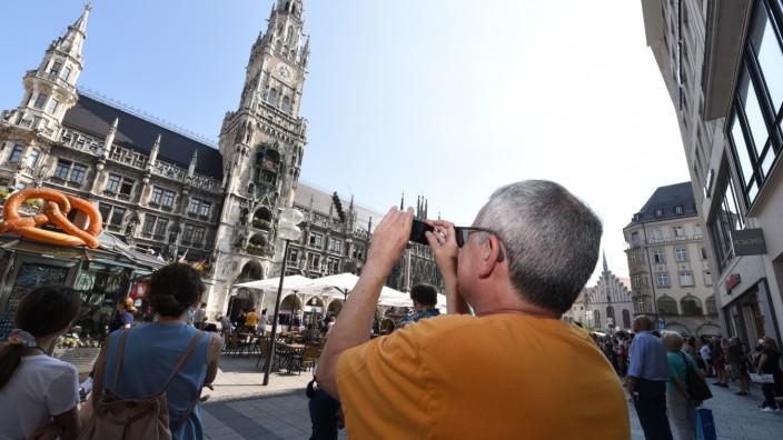 Urlaub in München am Marienplatz