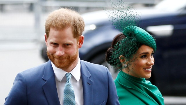 FILE PHOTO: Britain's Prince Harry and Meghan, Duchess of Sussex, arrive for the annual Commonwealth Service at Westminster Abbey