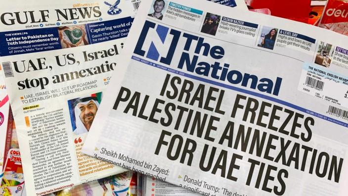 Naher Osten: Wie die internationalen Reaktionen auf die Einigung zwischen Israel und den Vereinigten Arabischen Emiraten sind auch die internationalen Schlagzeilen gemischt.