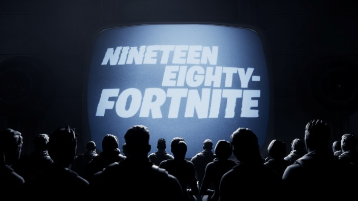 A scene from the 'Nineteen Eighty-Fortnite' short released by popular video game 'Fortnite' maker Epic Games