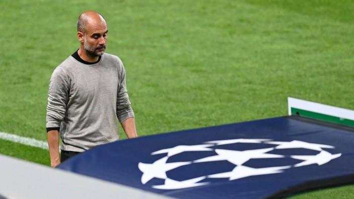 FOOTBALL : Manchester City vs Olympique Lyonnais - 1/4 - Phase finale - UEFA Ligue des Champions - Final 8 - Lisbonne -; Pep