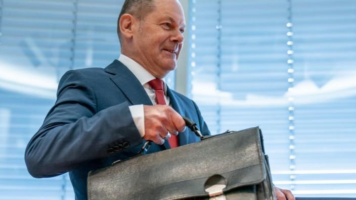 Bundesfinanzminister Olaf Scholz - Kurzarbeitergeld