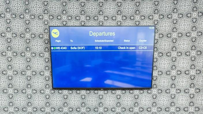 Departures am Flughafen Memmingen, 2020