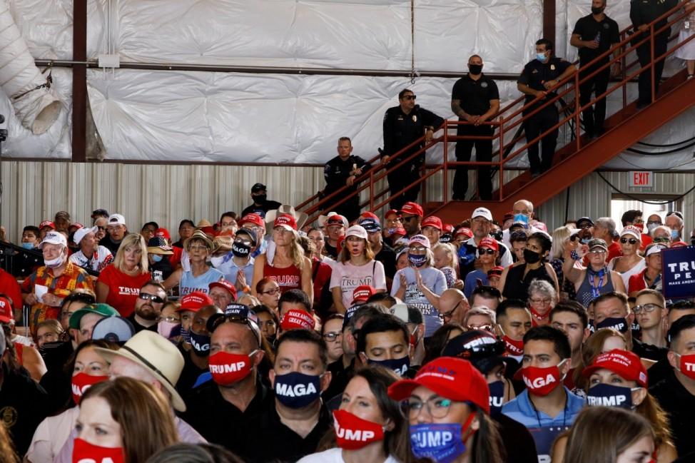 U.S. President Donald Trump holds campaign event at Yuma International Airport in Yuma, Arizona