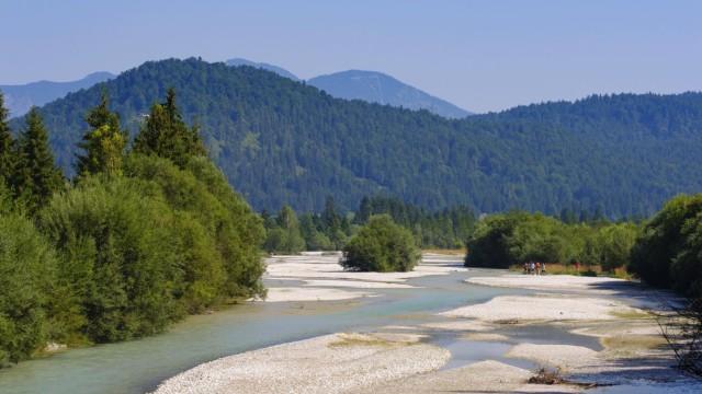Isar bei Krün Werdenfelser Land Oberbayern Bayern Deutschland Europa *** Isar near Krün Werden