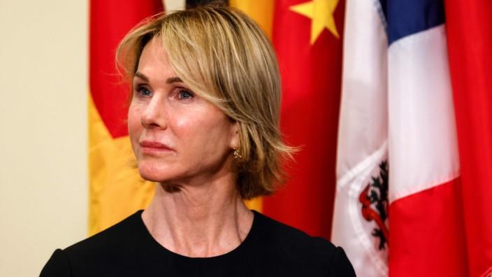 UN-Botschafterin Kelly Craft: US-Botschafterin bei den Vereinten Nationen Kelly Craft bei einer Pressekonferenz diese Woche.