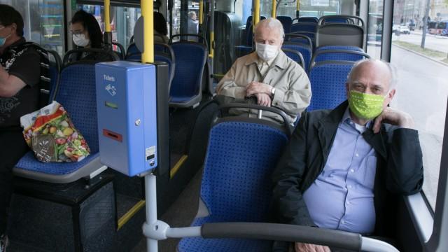 Mehr leere Plätze als Fahrgäste: Im gesamten MVV-Gebiet gingen die Fahrgastzahlen während der Corona-Krise um bis zu 95 Prozent zurück.