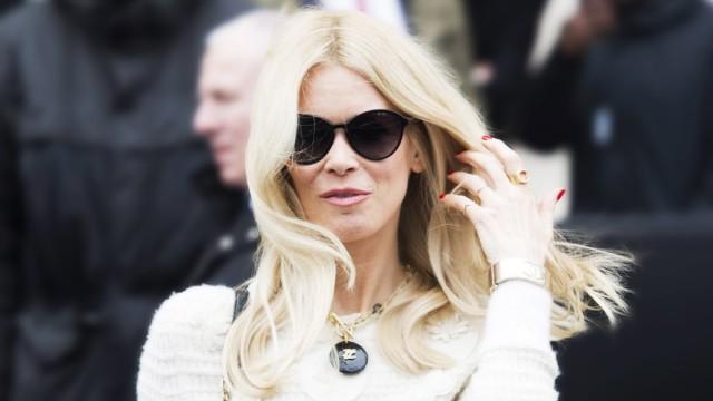Claudia Schiffer CELEBRITES Arrivees au Defile Chanel Paris 05 03 2019 JBAutissier Panoramic
