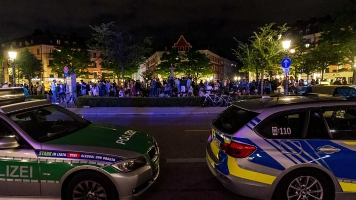 Die Polizei ist seit Längerem verstärkt am Gärtnerplatz präsent, wie auf diesem Foto im Juni 2020.