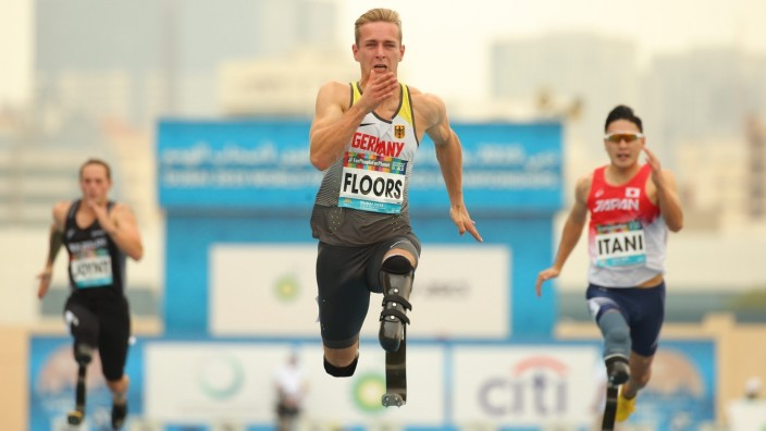 Dubai 2019 World Para Athletics Championships; United Arab Emirates, 10.11.2019 Johannes Floors (GER) setzt neuen Weltr