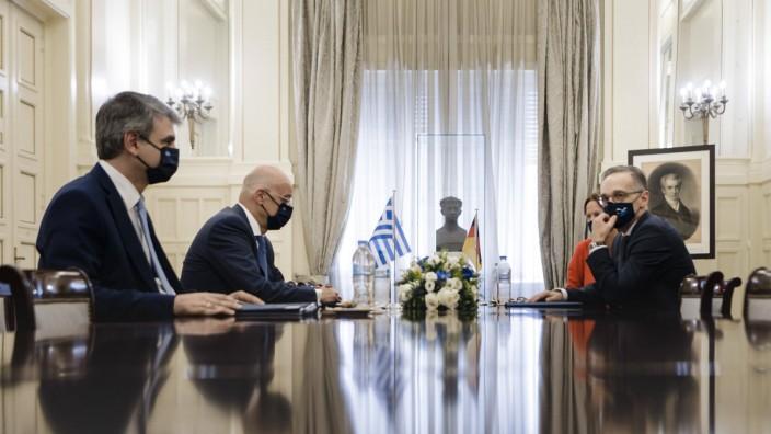 Bundesaussenminister Heiko Maas, SPD, trifft Nikolaos-Georgios Dendias, AuâÆ öüenminister der Hellenischen Republik zu e
